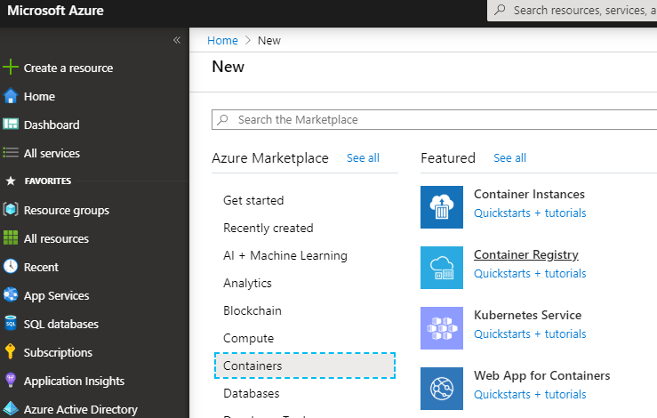 Create an Azure Container Registry